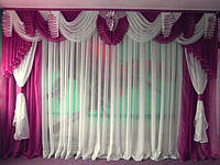 Готовый комплект на окно №132-а Ламбрекен шторы тюль 3,5м