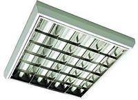 Растровый светильник ЛПО 4х18Вт  VS