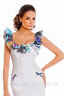 Летнее легкое платье из трикотажа 85
