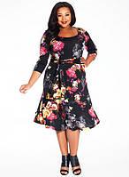Легкое летнее сарафан-платье большого размера от Lusien