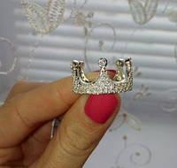 """Серебряное кольцо """"Корона"""" с камнями 925 пробы"""