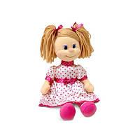 Мягкая игрушка Кукла Ляля в шелковом платье музыкальная 22 см