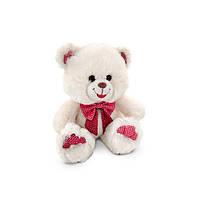 Мягкая игрушка музыкальная Медведь декоративный светлый малый 20 см