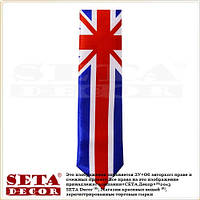 Галстук UK английский флаг (Union Jack)  тонкий 5 см.