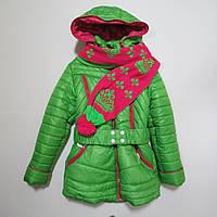 Подростковая зимняя куртка/пальто для девочки р.134,140,152