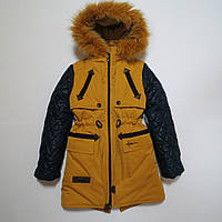 Зимняя куртка парка/пальто для девочки р.122,140.