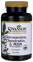 Лечение суставов Глюкозамин, хондроитин, МСМ, оригинал США 120 капсул, купить, цена, отзывы