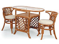 Мебель из ротанга (2 кресла + журнальный стол)