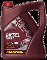 Моторное масло дизельное MANNOL DIESEL TURBO (SAE 5W-40 API CI-4/SL) 5L