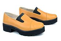Женские модные туфли из кожи, подошва протектор