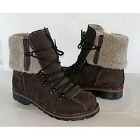 Женские зимние ботинки, кожа натуральная, мех