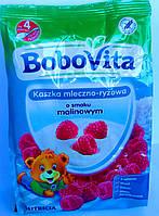 Детская молочно-рисовая каша BoboVita со вкусом малины с 4 месяцев 230гр (Польша)
