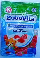 Детская молочно-рисовая каша BoboVita со вкусом клубники с 6 месяцев 230гр (Польша)