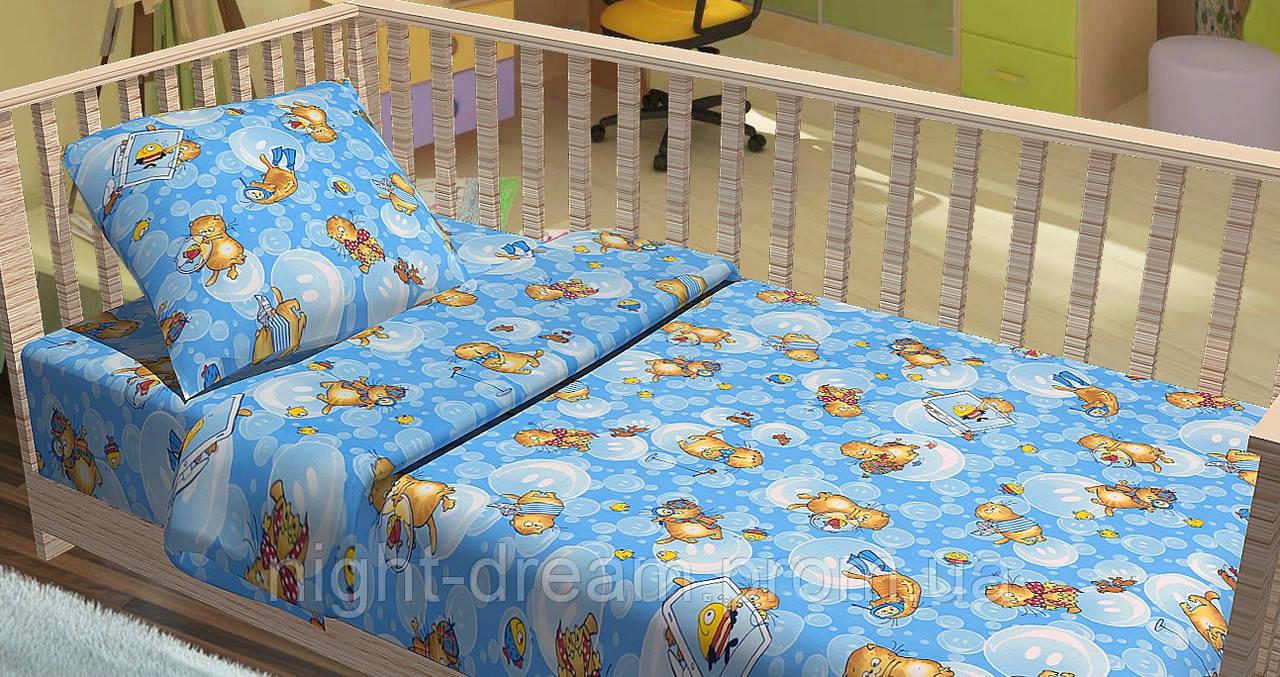 Детское постельное белье в кроватку Kids Dreams   ПІДВОДНА ПРИГОДА