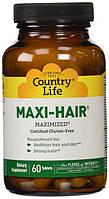 Maxi-Hair ® Maximized 60 таблеток. Витамины для волос, кожи и ногтей. Country Life, сделано в США.