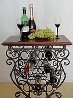 Подставка-столик для вина кованая  100-1