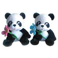 Мягкая игрушка Панда с цветком музыкальная 22 см