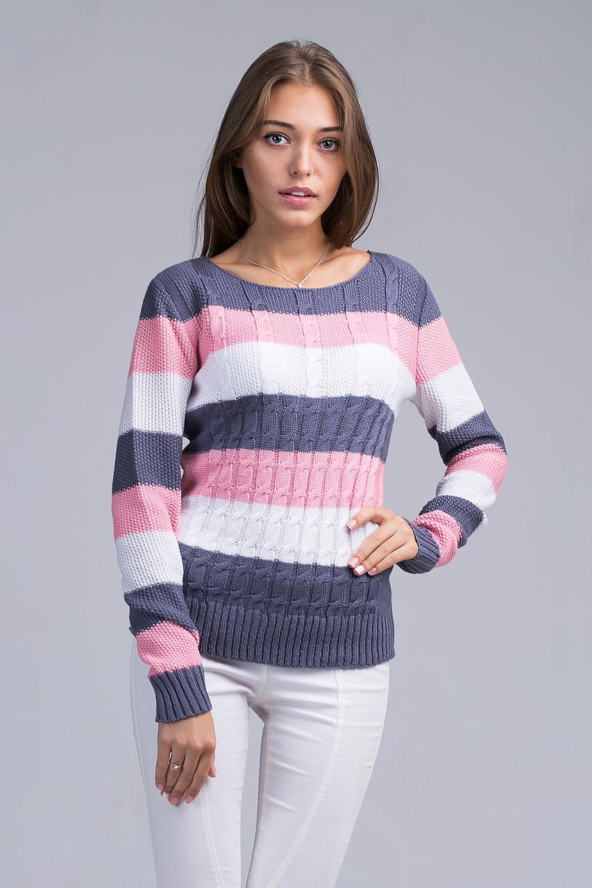 Вязаный Пуловер С Вырезом Лодочка С Доставкой