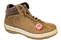 """Зимние мужские ботинки """"Mida"""". Натуральная шерсть. Песочный цвет. Нубук"""