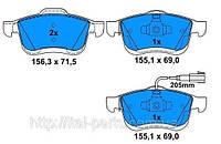 Колодки тормозные передние Fiat Doblo. Для автомобилей после 2009 г. выпуска. Fiat Doblo 3.
