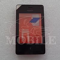 Сенсор Nokia Asha 500 (00811K2) с передней панелью black Orig