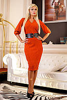 Платье  Лаванда D4 кирпичное Медини 42-44 размер