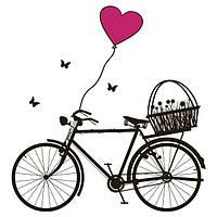 Виниловая наклейка Bicycle