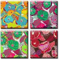 Картина полиптих Flowers