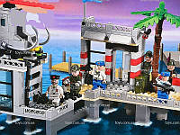 """Детский конструктор """" Военный корабль и форт"""" ТМ Brick"""