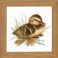 """Набор для вышивки крестом """"Утенок отдыхает"""" (Duckling at rest)"""