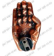 Необычные подарки Пепельница с зажигалкой Рука №2682 Идеи подарка Предмет интерьера Атрибут для курильщиков