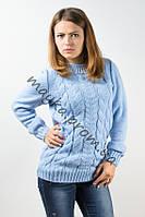 Свитер женский вязаный Palvira голубой 44-46 pal 5078