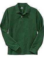 Детское школьное зеленое поло для мальчика, на рост 118-133, 133-147 см. (арт.3767)