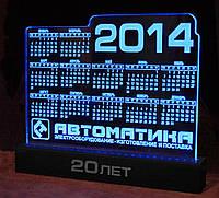 Настольные календари из акрила