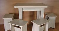 Стол раскладной + ноги ДСП(кухонный, обеденный,) АС Мебель