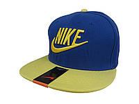 Синяя кепка с желтой надписью Nike
