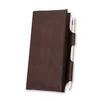 Кошелек кожаный для документов дорожный кейс коричневый ручная работа