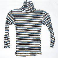 Гольф вязаный для мальчика 4-10 лет серый в полоску
