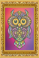 "Схема для вышивки бисером ""Сова. Символ мудрости""."