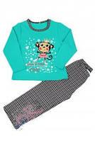 Пижама для девочки теплая на баечке МТF на рост 140