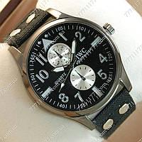 Часы мужские наручные IWC Schaffhausen Black/Black Silver/Black