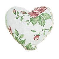 """Декоративная подушка ручной работы """"Сердце"""" Big pink rose"""