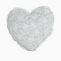 "Декоративная подушка ручной работы ""Сердце"" white rose"
