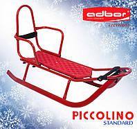Санки со спинкой Adbor Piccolino красные
