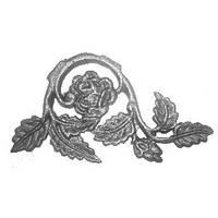 декоративный элемент роза, литье СТ-3, H.100 x L.195 mm