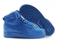 Nike Womens Air Force Ones High QK All Blue