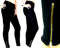 Лосины-брюки Бамбук на меху со змейками XL-XXL