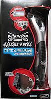 Станок Wilkinson Sword Quattro Titanium Precision Freestyle 3-в-1 + подставка, из Германии