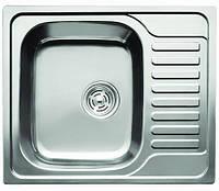 Мойка кухонная Cristal UA7201ZS (KATANA PLUS) прямоуг. с полкой, врезная 580x485x180 SATIN