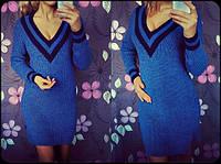 Женское теплое вязаное платье (4 цвета)